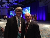 Bob Davies and John Boyle prior to NAIFA conference